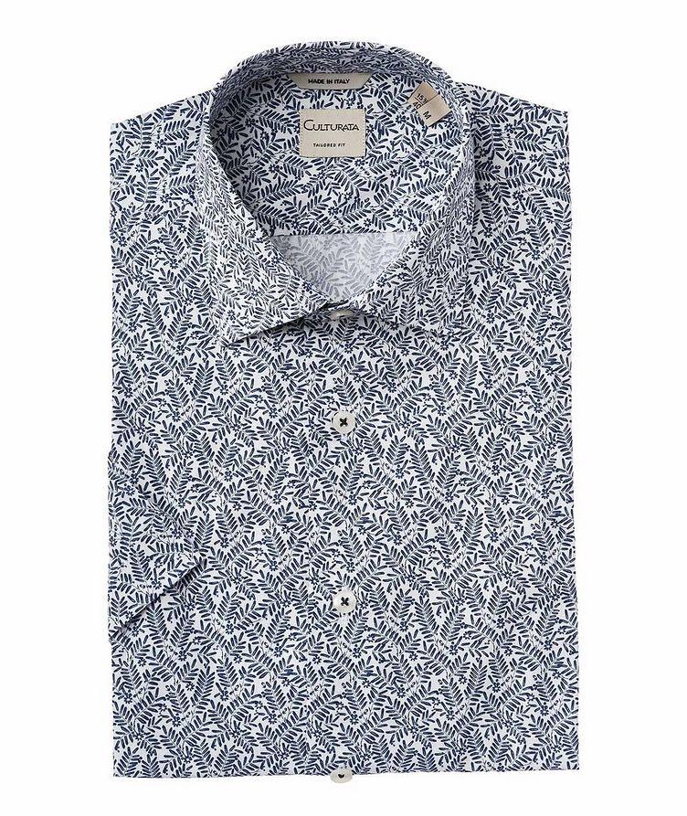 Chemise à motif botanique à manches courtes image 0
