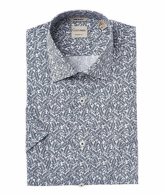 Chemise à motif botanique à manches courtes picture 1