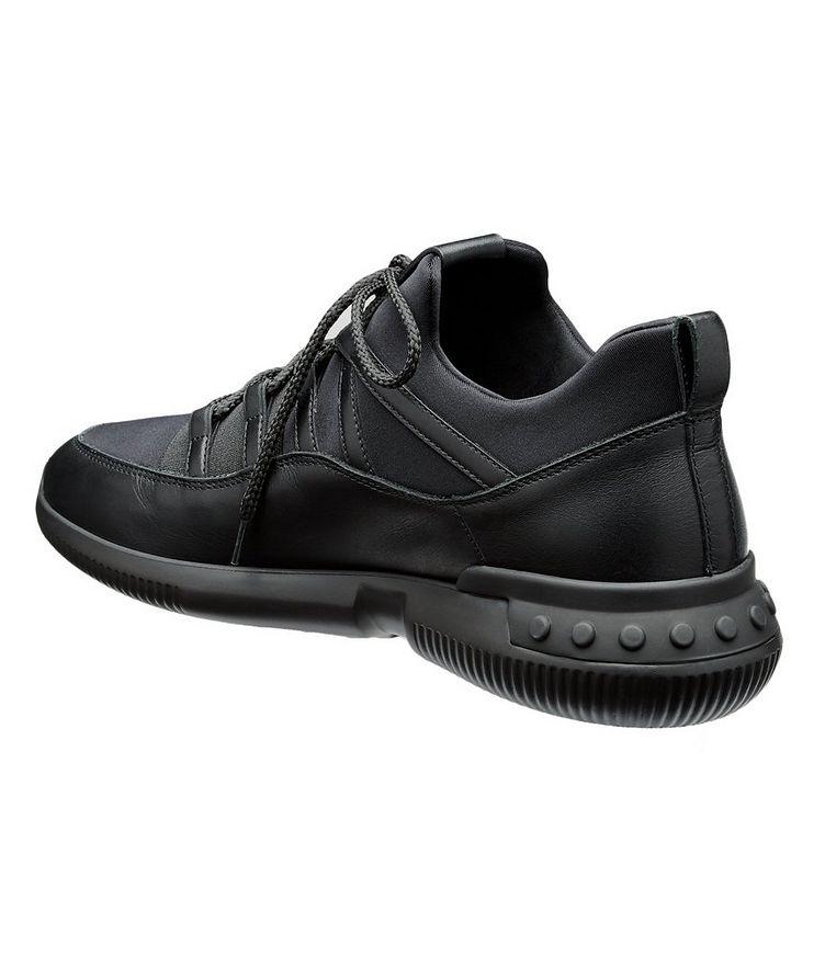 Shoeker No_Code_01 Leather & Neoprene Sock Sneakers image 1