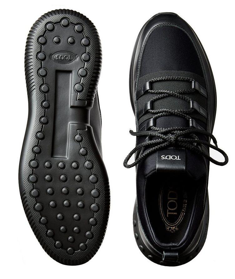 Shoeker No_Code_01 Leather & Neoprene Sock Sneakers image 2