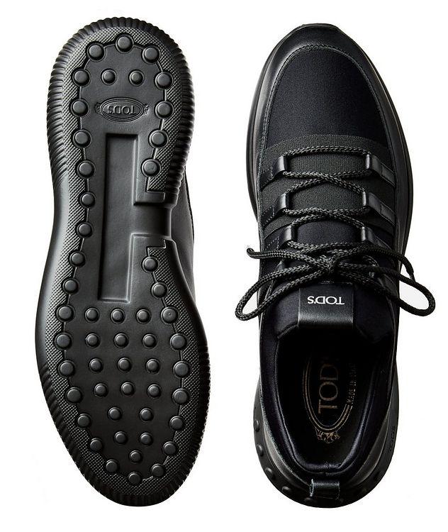 Shoeker No_Code_01 Leather & Neoprene Sock Sneakers picture 3
