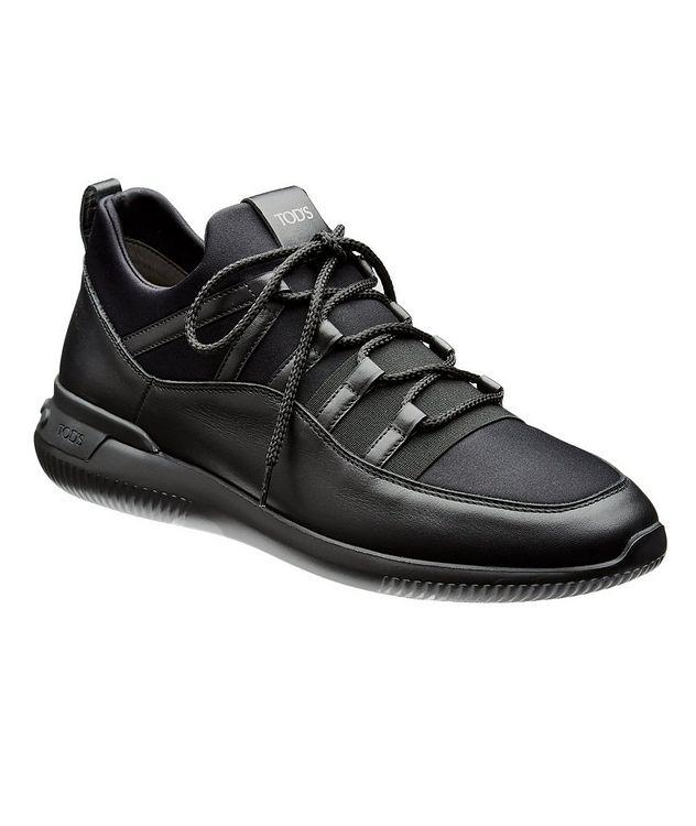 Shoeker No_Code_01 Leather & Neoprene Sock Sneakers picture 1