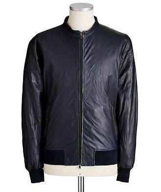 Fradi Leather Bomber Jacket