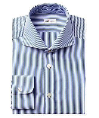 Kiton Striped Cotton Shirt