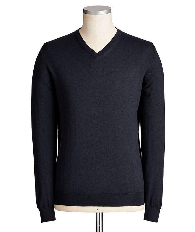 V-Neck Cashmere-Silk Sweater picture 1
