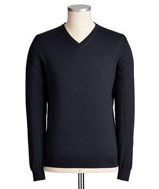 Kiton V-Neck Cashmere-Silk Sweater