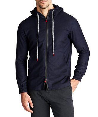 Kiton Zip-Up Wool-Cashmere Hoodie