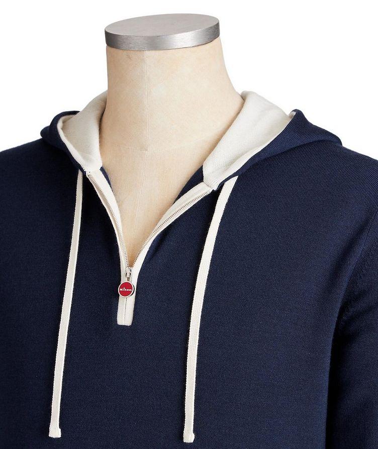 Half-Zip Cashmere-Silk Hoodie image 1