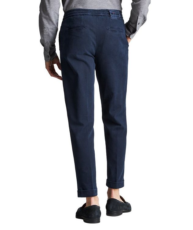 Slim Fit Stretch-Cotton Trousers picture 2
