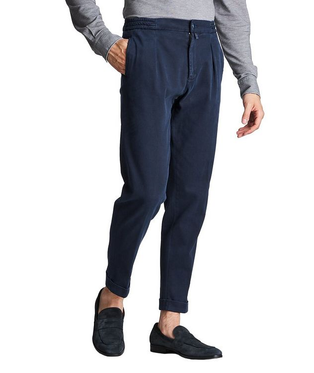 Slim Fit Stretch-Cotton Trousers picture 1