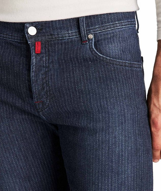 Slim Fit Chalk Striped Jeans picture 3
