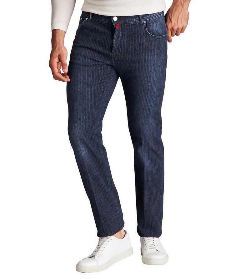Slim Fit Chalk Striped Jeans image 0