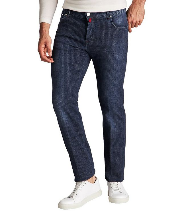 Slim Fit Chalk Striped Jeans picture 1