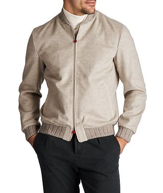 Kiton Cashmere Bomber Jacket