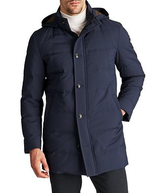 Kiton Hooded Down Puffer Jacket