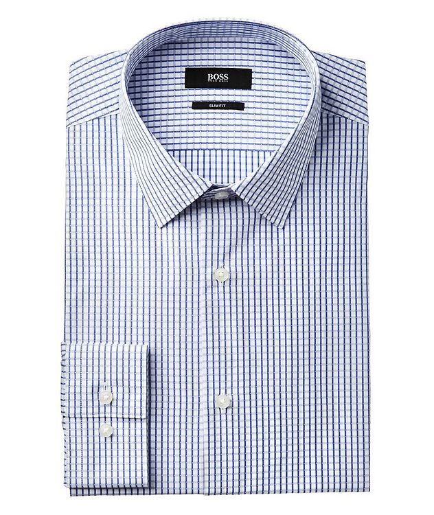 Slim Fit Checked Dress Shirt picture 1