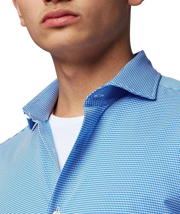 Slim Fit Gingham Print Dress Shirt picture 3