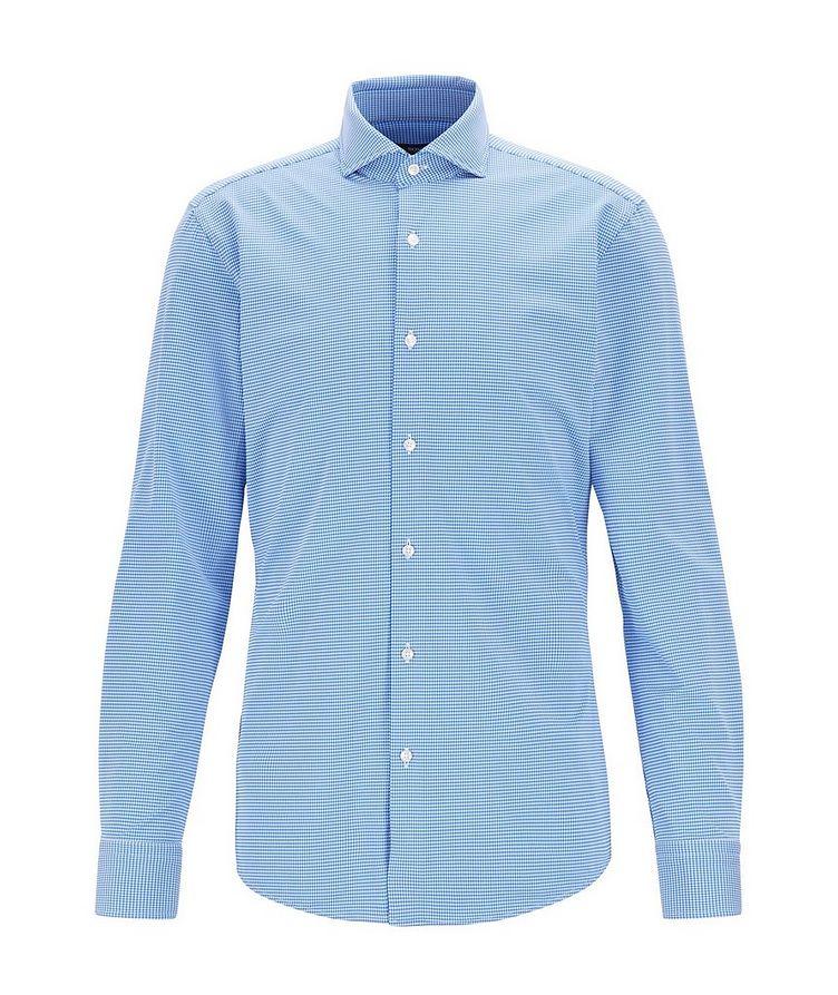 Slim Fit Gingham Print Dress Shirt image 0