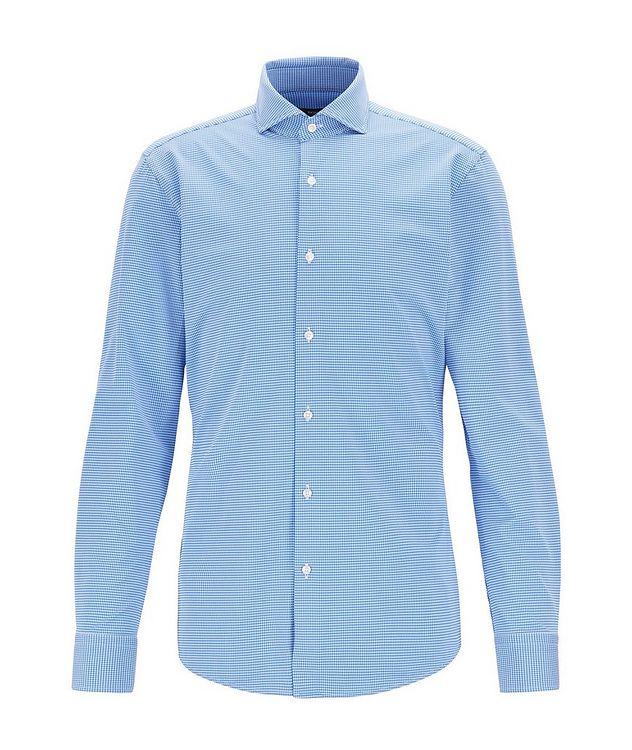 Slim Fit Gingham Print Dress Shirt picture 1