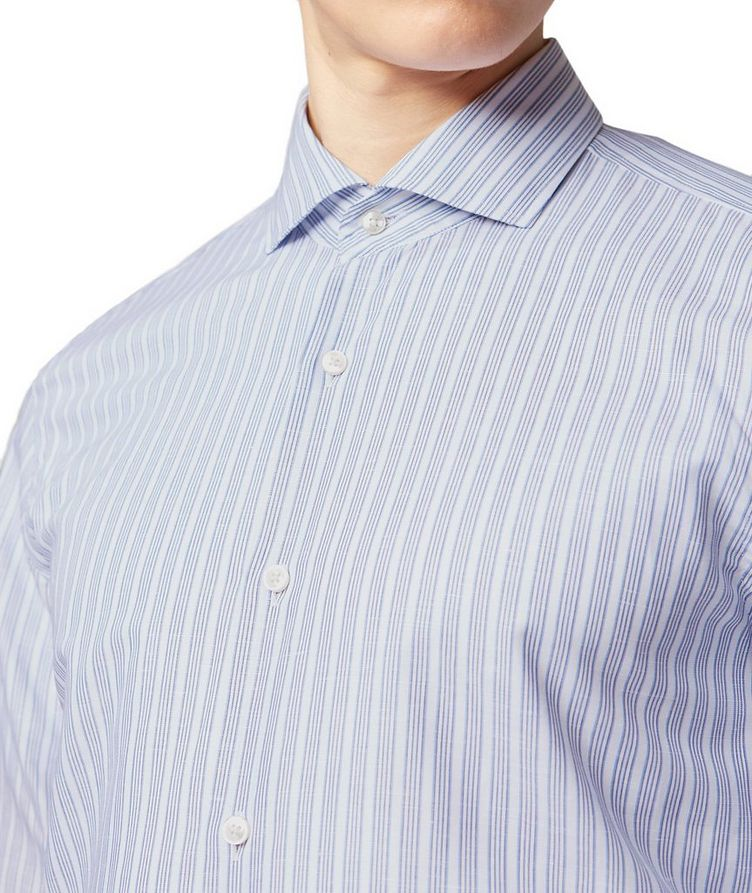 Slim Fit Cotton-Linen Dress Shirt image 1