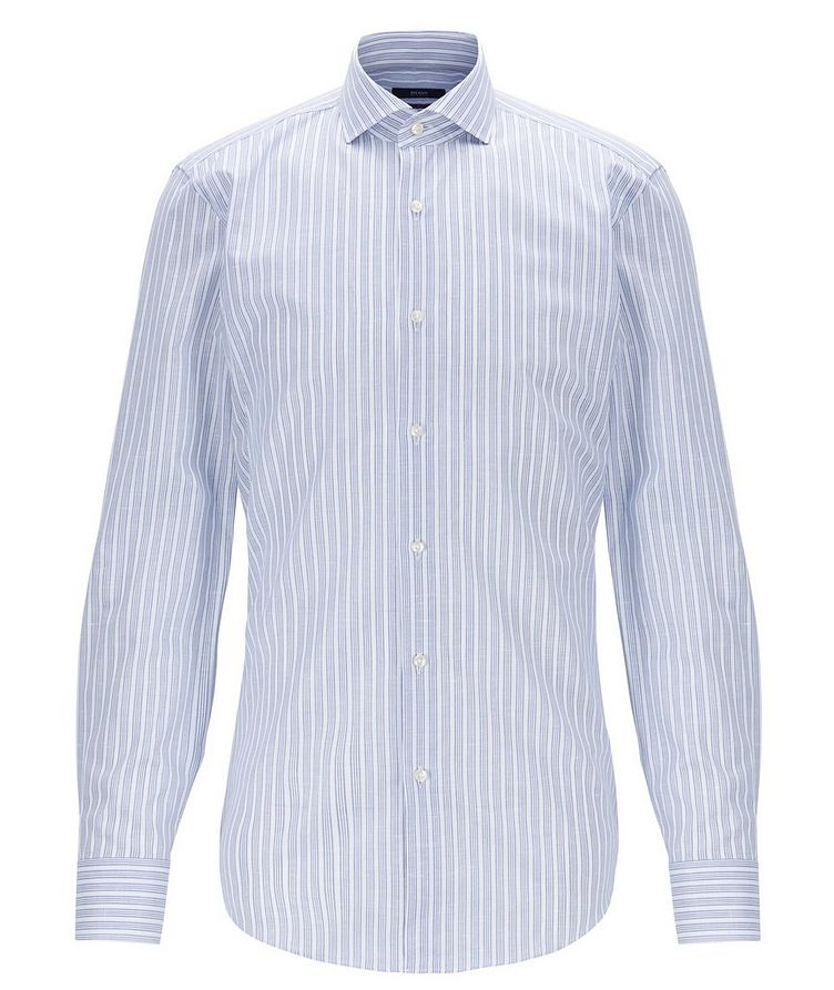 Slim Fit Cotton-Linen Dress Shirt image 0