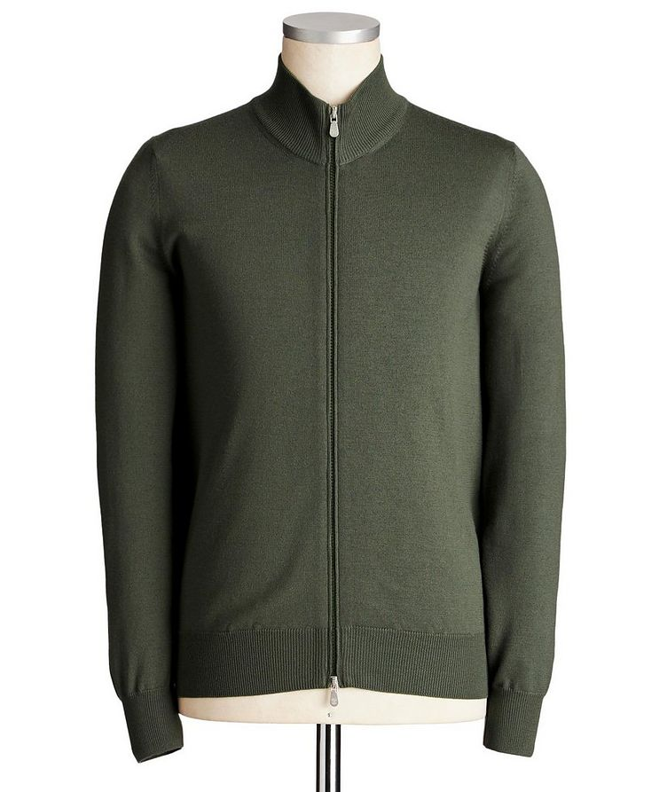 Zip-Up Virgin Wool-Cashmere Cardigan image 0