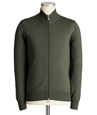 Brunello Cucinelli Zip-Up Virgin Wool-Cashmere Cardigan