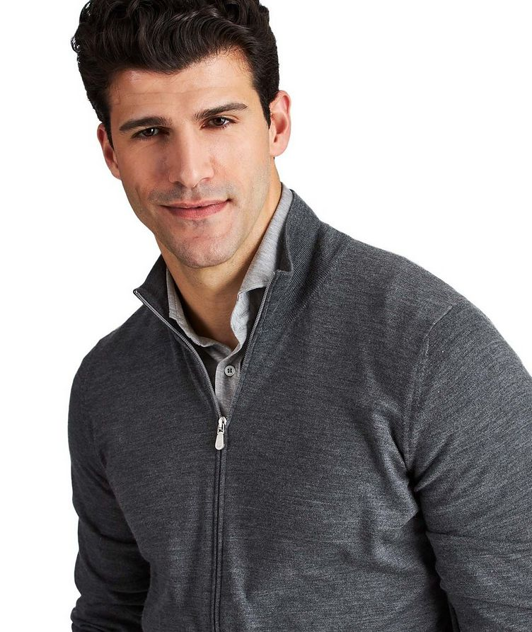 Zip-Up Virgin Wool-Cashmere Cardigan image 1