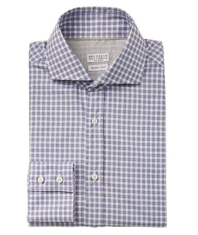 Gingham-Printed Cotton Shirt picture 1