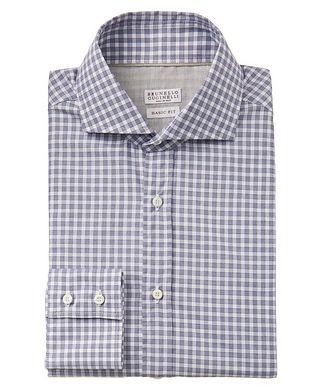 Brunello Cucinelli Gingham-Printed Cotton Shirt