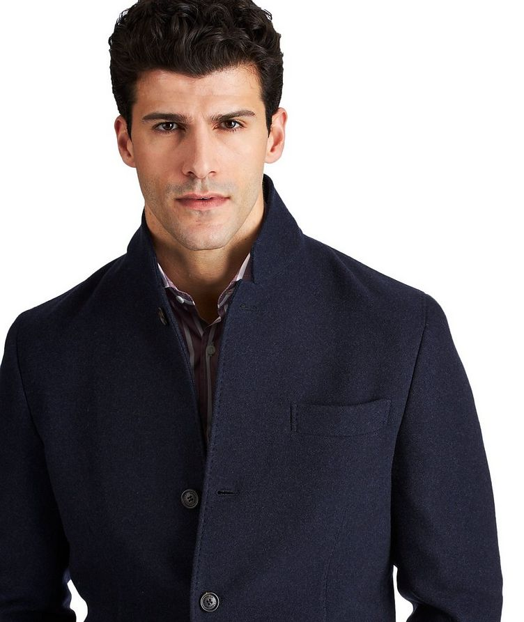 Water-Repellent Cashmere Coat image 1