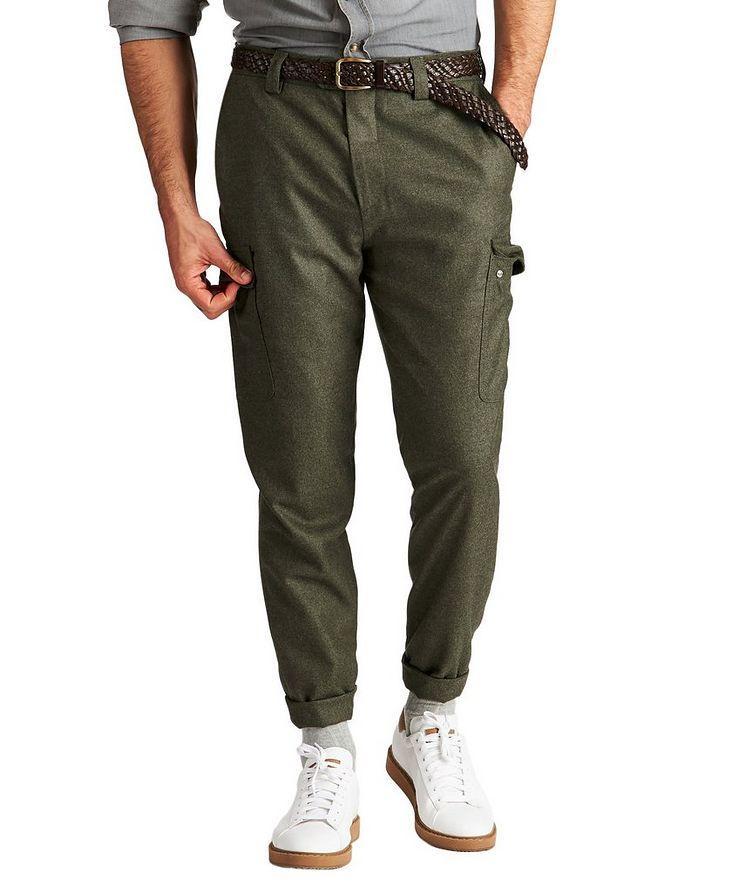 Pantalon à poches cargo de coupe contemporaine image 0