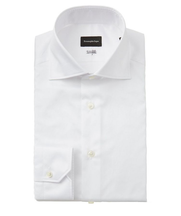 Slim Fit Striped 100fili Dress Shirt image 0