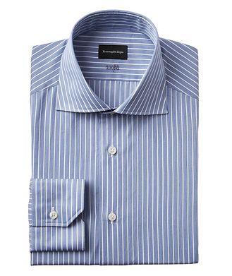 Ermenegildo Zegna Contemporary Fit Striped 100fili Dress Shirt