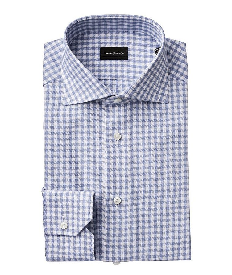 Slim Fit Gingham Printed Dress Shirt image 0