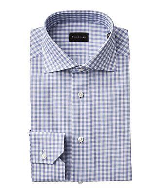 Ermenegildo Zegna Slim Fit Gingham Printed Dress Shirt