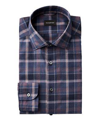 Ermenegildo Zegna Slim Fit Checked Cotton Shirt