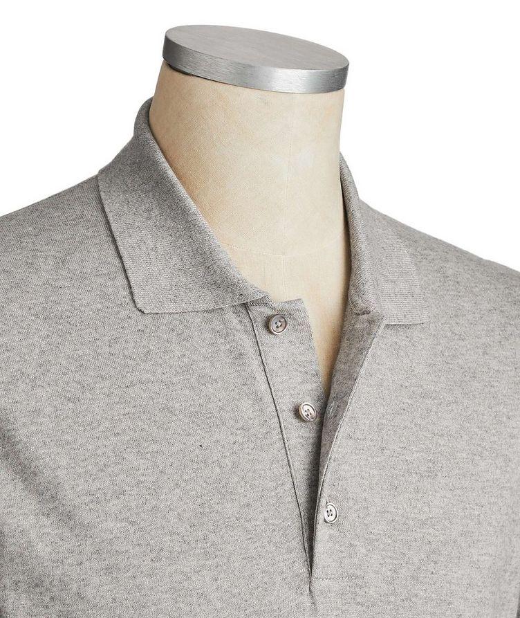 Long-Sleeve Cotton-Cashmere Polo image 1