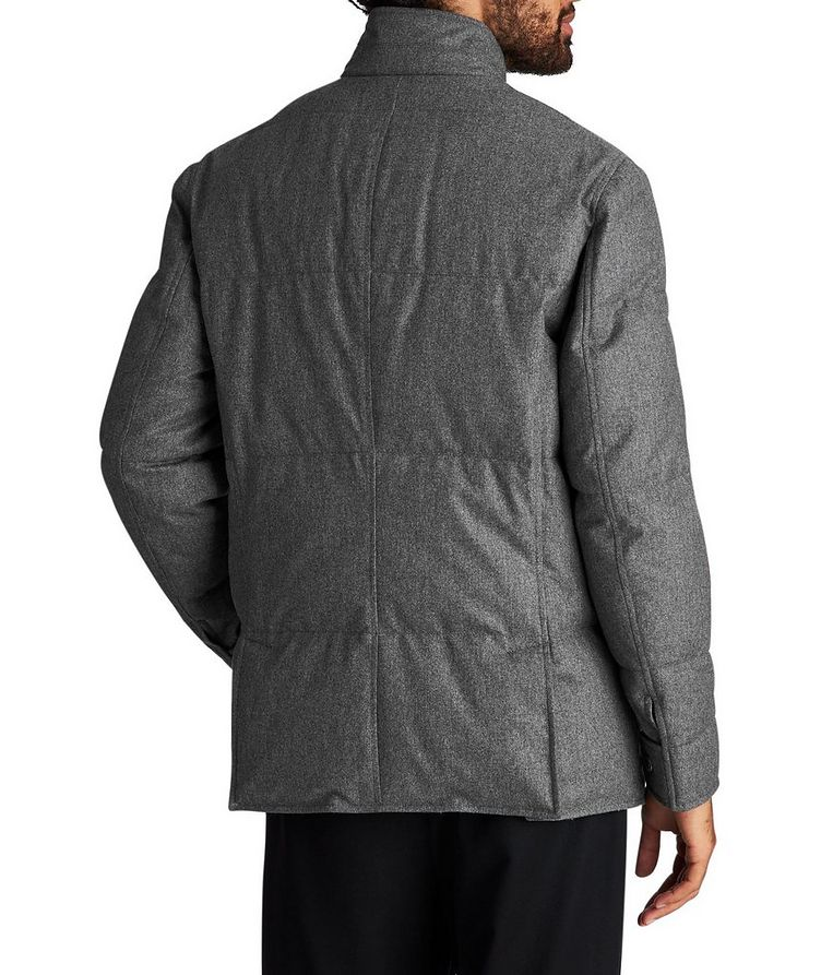 Water-Repellent Wool-Silk-Cashmere Jacket image 1