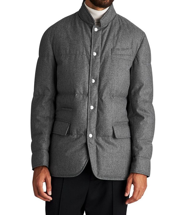 Water-Repellent Wool-Silk-Cashmere Jacket image 0