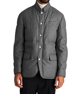 Brunello Cucinelli Water-Repellent Wool-Silk-Cashmere Jacket
