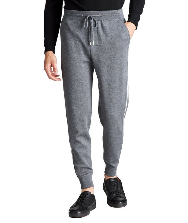 Drawstring Wool Joggers picture 1