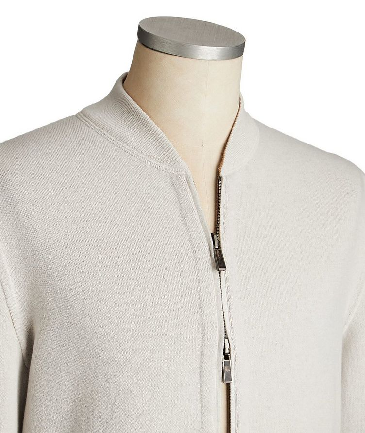 Reversible Cashmere Zip-Up Sweater image 1