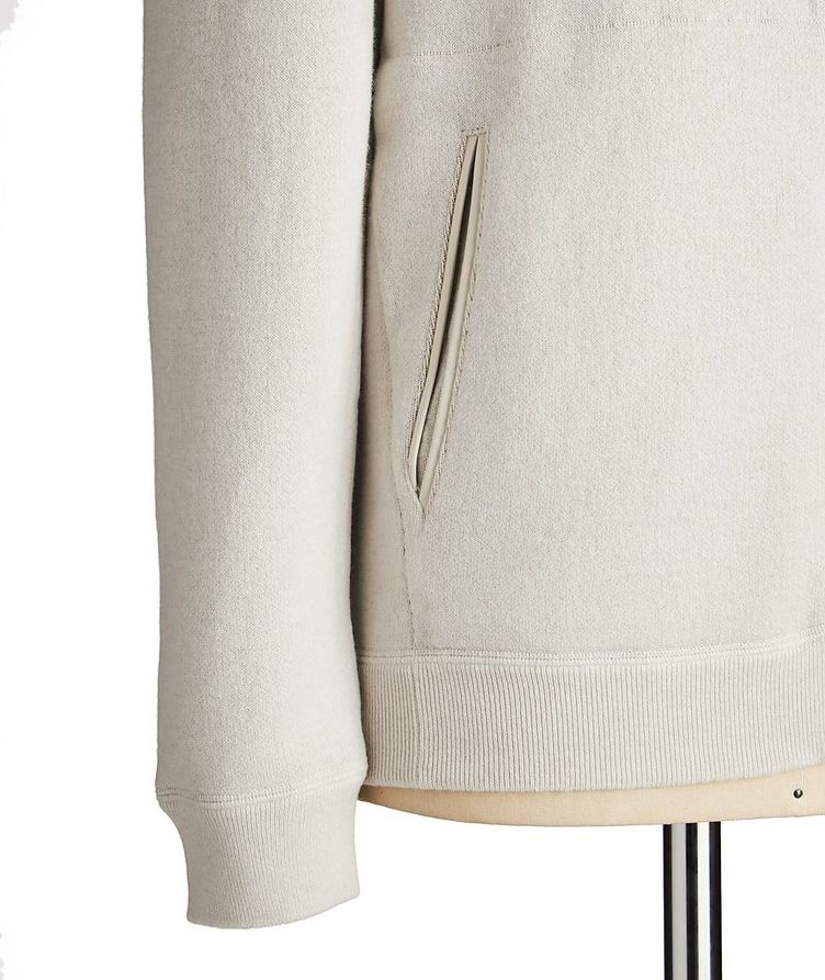 Reversible Cashmere Zip-Up Sweater image 2