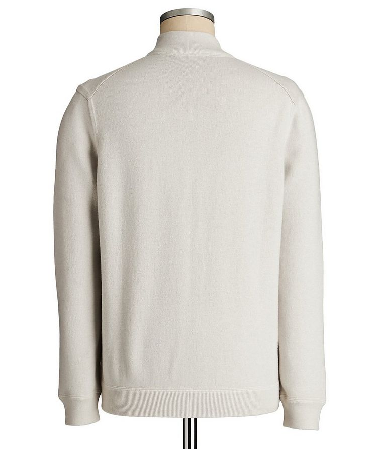 Reversible Cashmere Zip-Up Sweater image 3