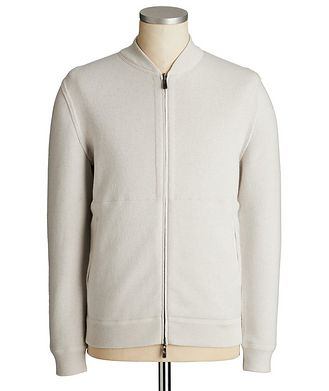Ermenegildo Zegna Reversible Cashmere Zip-Up Sweater