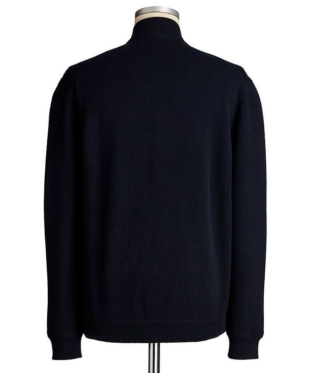 Reversible Cashmere Zip-Up Sweater picture 2