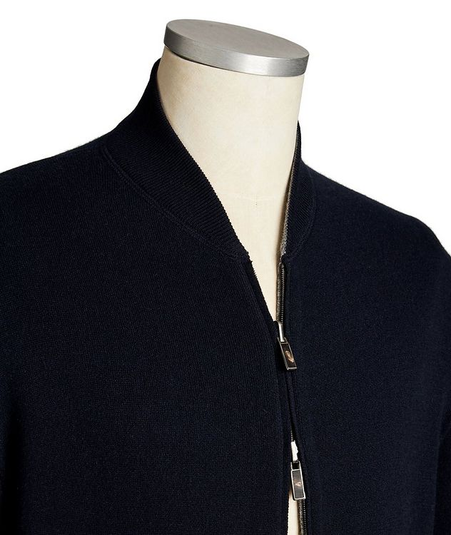 Reversible Cashmere Zip-Up Sweater picture 3