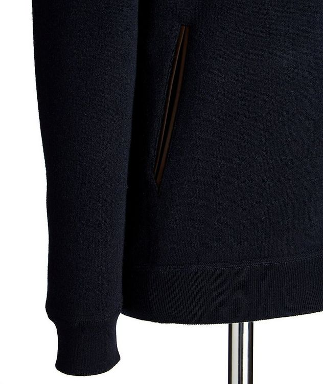 Reversible Cashmere Zip-Up Sweater picture 4