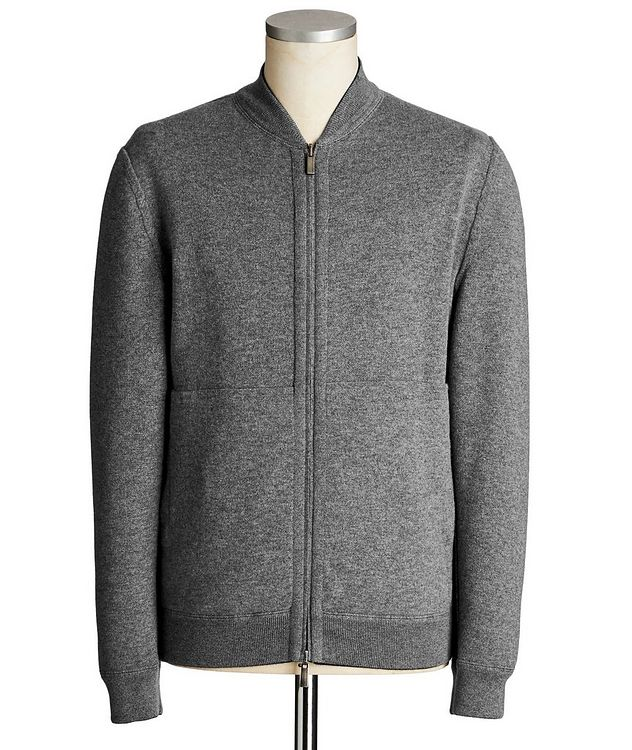Reversible Cashmere Zip-Up Sweater picture 5